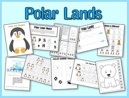 homeschool step by step preschool theme winter polar animals. Black Bedroom Furniture Sets. Home Design Ideas