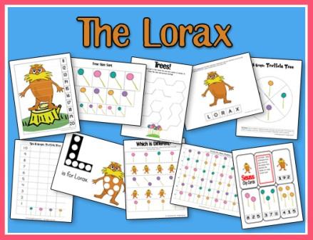 Lorax Printables