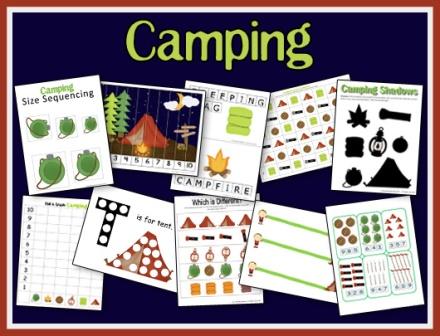 Free Camping Preschool Unit O A Teaching Mommy