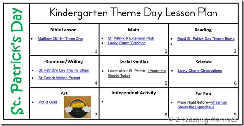 St Patricks Day Kindergarten Lesson Plan A Teaching Mommy